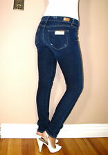 $198 Paige Skyline Drive Skinny Jeans Shipwreck X-Soft Dark Distressed 24