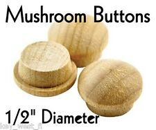 "1/2"" inch Maple Mushroom Buttons ~ Wood Screw Plugs ~ Lot of 12 to 1000 by PLD"