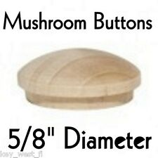 "5/8"" inch Maple Mushroom Buttons ~ Wood Screw Plugs ~ Lot of 12 to 500 by PLD"