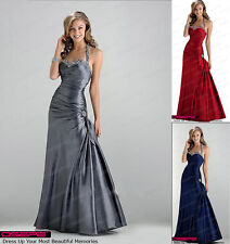 Sexy evening prom bridesmaid dress Party Gown Stock Size 6 8 10 12 14 16