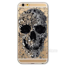 Soft TPU Patterned Painted Back Case Cover For Apple iPhone 4 4S 5 5S 6 6 Plus