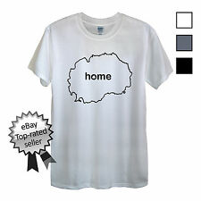 MACEDONIA HOME T-Shirt FIND YOUR OWN Country Men OR Women's Flag Football shirt