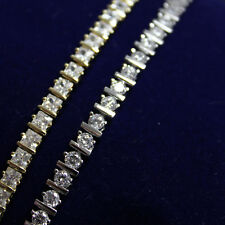 14k Gold Filled womens bridal jewelry cubic zirconia bracelet 7.5inch Iced Out