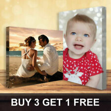 "Your Personalised Photo on Canvas Print 12"" x 8"" Framed A4 Ready to Hang"