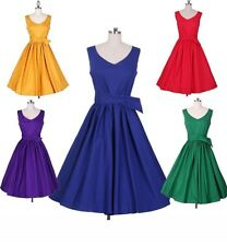 Womens Vintage 50s 60s Swing Retro Pinup Rockabilly Housewife prom party Dress