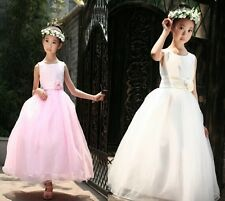 Hot Girls Flower Girl Bridesmaids Party Prom Wedding Dress Dresses Age2-12Y 0305