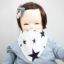 Cute Newborn Baby Scarf Bib Girl Boy Unisex Cotton Infant Toddler Handmade Eb94