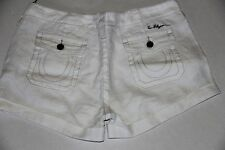 New Women True religion Jeans Shorts Off White