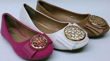 NEW DOTTY Smiley Girls Pageant WEDDING Faux Tory Burch like emblem flats shoes