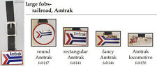 Amtrak Railroad fobs, various designs & leather strap options