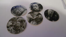 Pre Cut One Inch Bottle Cap Images! Cowardly Lion  Wizard of Oz!  Free Shipping