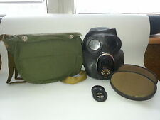 Soviet Army Gas Mask PBF EO-19 with filters and bags BLACK Rubber. NEW. VINTAGE