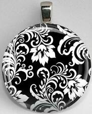 Handmade Interchangeable Magnetic Black and White Patterns #6 Pendant Necklace