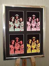 THE BEE GEES LTD EDITION SIGNED POP ART CANVAS GIBB BROTHERS