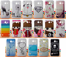 For Huawei Ascend Y550 Soft TPU Superman Cute Girl Animal High Heel Case Cover