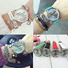 I'm already late women's men's Leather Fashion trendy Single Girl Wrist Watch
