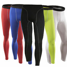 Men Compression Sports Athletic Base Layers Long Leggings Tight Pants Cycling