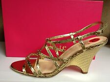 Kate Spade Bet Women's Open Toe Ankle Strap Leather Sandals Wedges Heels Shoes