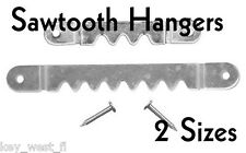 SAWTOOTH PICTURE HANGERS w/NAILS ~ 2 Sizes ~ BULK PACK Lot of 100 to 1000 by PLD