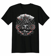 Let It Ride 4 Aces Dice Motorcycle Chopper Biker T-Shirt Tee