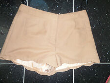 bnwt warehouse linen mix shorts washable 8 12 14 16 salmon pink lined fab