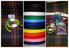 Woven horse lead - you pick your colors - shank available