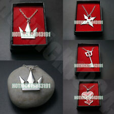 Kingdom Hearts Sora Crown Roxas Cross Necklace Pendant in Box with Gift Bag New