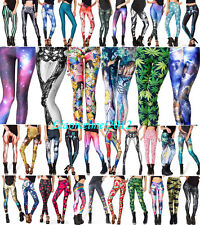 2015 Sexy 3D Graphic Colourful Printed Women Leggings Tight Pant Yoga Gym Funky