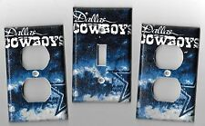 Dallas Cowboys in Blue Light Switch Cover and Electrical Outlet Plates