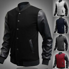 2015 Retro Style Mens Varsity Letterman College Jacket Baseball Sport Jacket Top