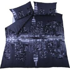 New York Reflections Skyline Duvet Cover Set, Single, double, King Size.(A)