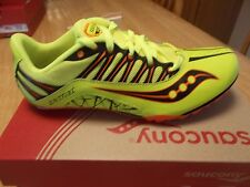 MEN'S SAUCONY SPITFIRE TRACK SPIKE SHOES 100 - 400 METERS YELLOW MULTI SIZES