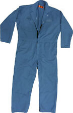 REDKAP COVERALLS MECHANICS LIGHT-BLUE 65/35 Blend 7.5 oz fabric, w/ 2-way Zippe