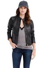 New Armani Exchange Womens Seamed Leather Jacket h5k471in