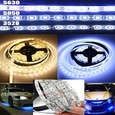 3528 5050 5630 Waterproof 5M SMD White LED Flexible Strip Light / Adapter/DC Kit