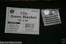 3 lb WOOL THROW BLANKET Blend Military Army Style Wilderness Camping HEAVY LINEN