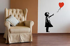 Banksy Style Girl with Balloon Wall Art, Iconic Image, Vinyl Sticker WA043