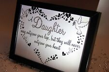A Daughter May Outgrow, Sparkle Word Art Pictures, Quotes, Sayings, Home Decor