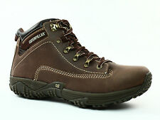 Caterpillar CORAX Mid Cut  Mens Work Casual  Hiking Brown Leather Boots  Shoes