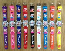 PEPPA PIG Silicone Watch in a choice of 9 coloured straps. UK SELLER