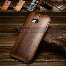 Stylish Bamboo Wood Two Part Jigsaw HTC One M8 Back Case Generic Cover 3 Colours