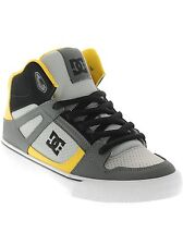DC Grey-Black-Yellow Spartan High Kids Hi Top Shoe