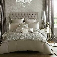 Kylie Minogue ALEXA Soft Silver Bed Linen Bedding Range Duvet Cover, Cushions