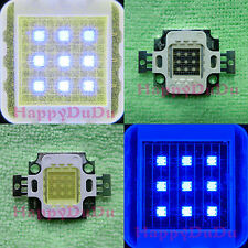 10W Royal Blue 455nm + Cool Cold White 20000K LED Lamp Light +AC Supply Aquarium