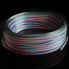 20M RGB 4-Pin Extension Wire Connector Cable Cord For 3528 5050 RGB LED Strip