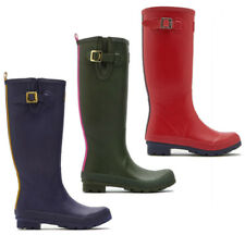 New Joules Field Welly Ladies Wellingtons Boots - Navy Blue, Olive Green & Red