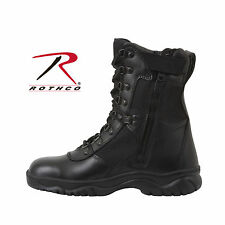 "Rothco Forced Entry 8"" Tactical Boot With Side Zipper Adult size 5-15 Black#5053"