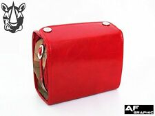 V92a Vintage Map Paint Box Design Red Leather Digital Camera Case Shoulder Bag
