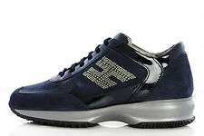 Womens HOGAN By TOD'S Shoes HXW00N0600092LU801 Sneakers INTERACTIVE H STRASS