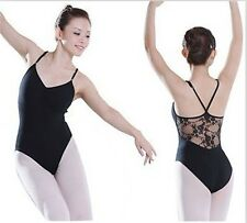2Colors Adult Women's Cotton Ballet Gymnastics Dance Leotard with Lace Dress New